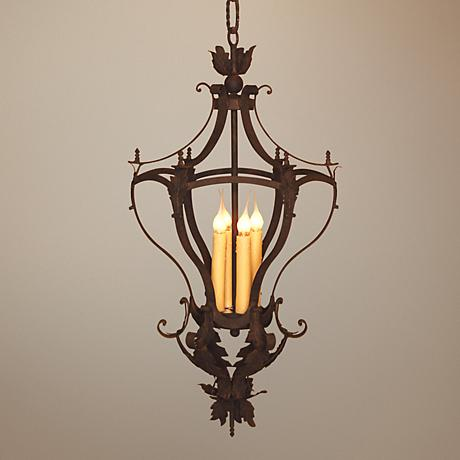 Laura Lee Alexis 4 Light Foyer Chandelier R5346 Lamps