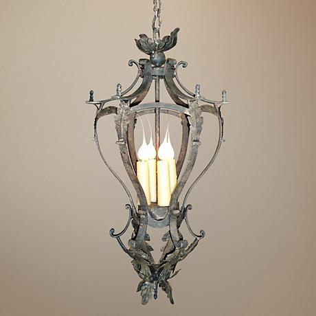 "Laura Lee Alexis 4-Light 12"" Wide Foyer Chandelier"