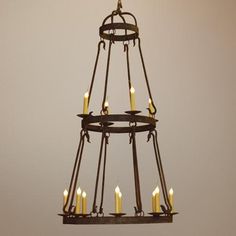 Laura Lee Buckingham 12-Light Large Candle Chandelier