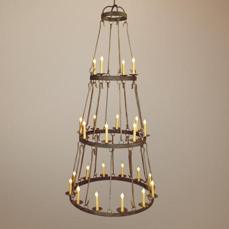 Laura Lee Buckingham 24-Light Large Candle Chandelier