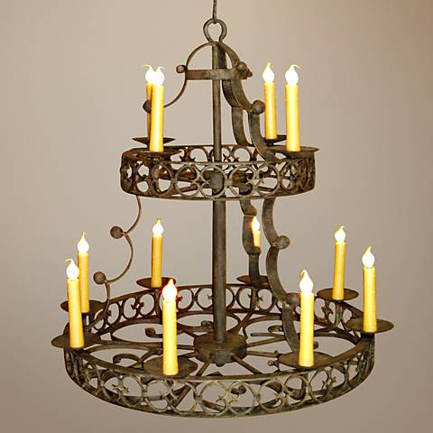 Laura Lee Cordoba 12-Light Large Candle Chandelier