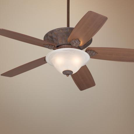 "52"" Casa Vieja Corte Bella Washed Copperleaf Ceiling Fan"