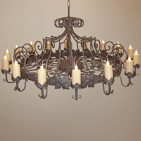Laura Lee Madrid 16-Light Large Candle Chandelier