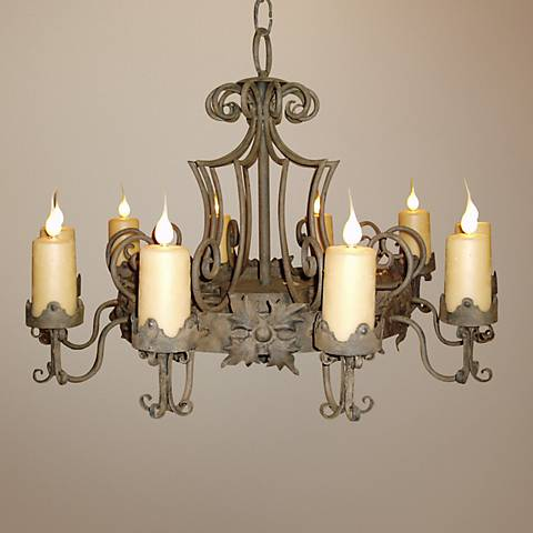 Laura Lee Madrid 9-Light Large Candle Chandelier