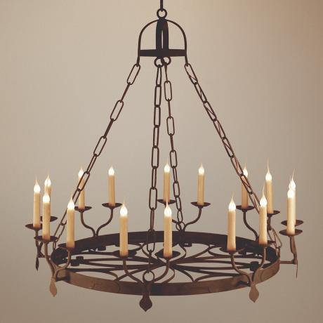 Laura Lee Ellington 16-Light Large Candle Chandelier