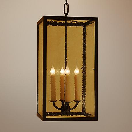 Laura Lee Monterey Lantern 4-Light Foyer Chandelier