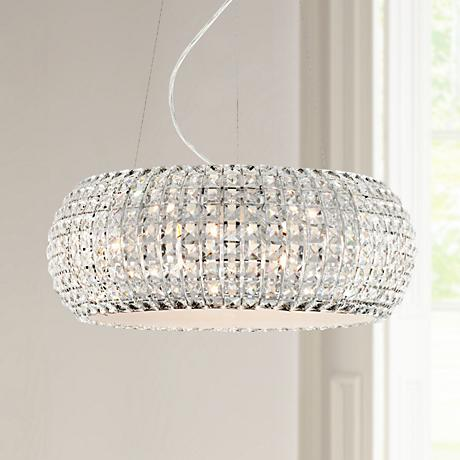 "Possini Euro Design 20""-W Contour Crystal-Chrome Chandelier"
