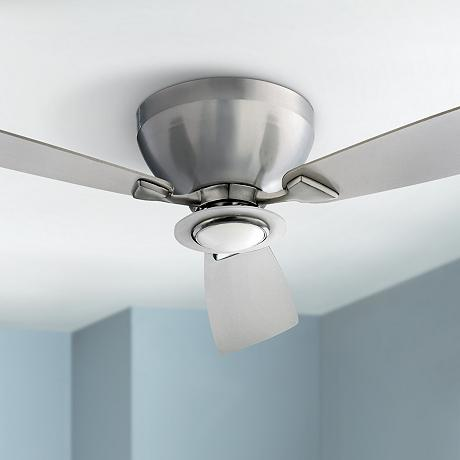 44 Quot Nikko Satin Nickel Hugger Ceiling Fan R5647