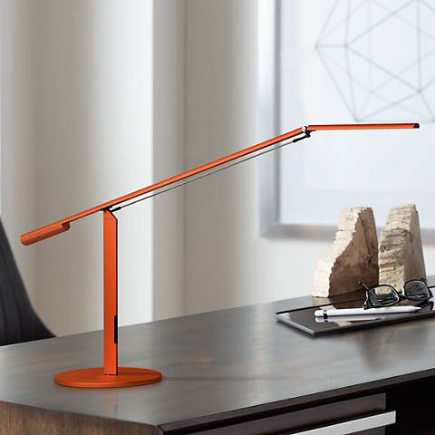 Gen 3 Equo Warm Light LED Orange Desk Lamp with Touch Dimmer