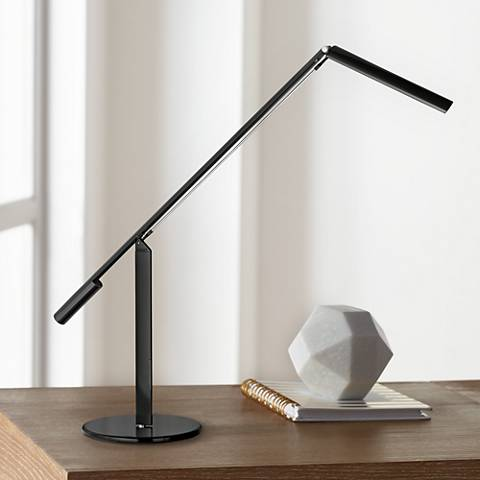 Gen 3 Equo Daylight LED Black Desk Lamp with Touch Dimmer ...