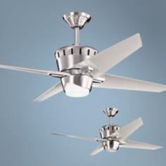 "52"" Kichler Kemble Brushed Stainless Steel Ceiling Fan"