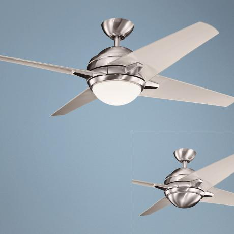 "52"" Kichler Rivetta Brushed Stainless Steel  Ceiling Fan"