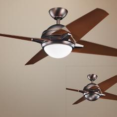 "52"" Kichler Rivetta Oil-Brushed Bronze Ceiling Fan"