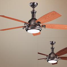"52"" Kichler Saint Andrews Oil Burnished Bronze Ceiling Fan"