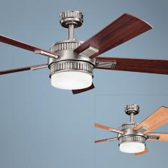 "52"" Kichler Walker Antique Pewter Ceiling Fan"