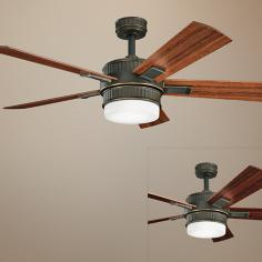 "52"" Kichler Walker Oiled Bronze Ceiling Fan"