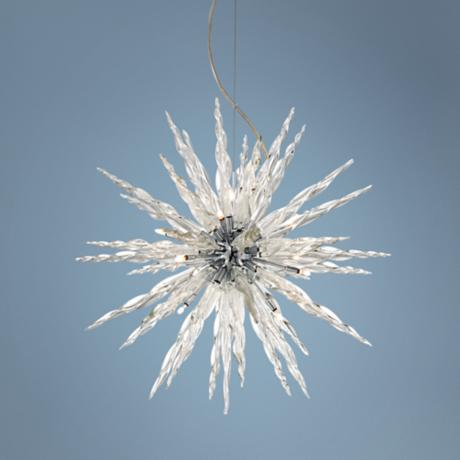 Possini Euro Design Glass Icicle Pendant Light