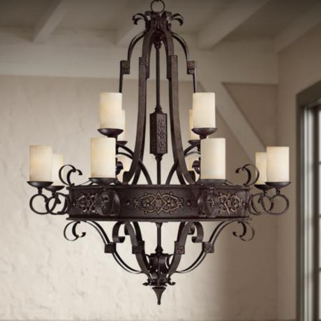 Capital River Crest Rustic Iron 12-Light Chandelier