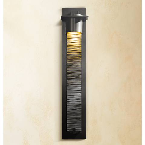 "Hubbardton Forge Airis Textured 33"" High Outdoor Wall Light"