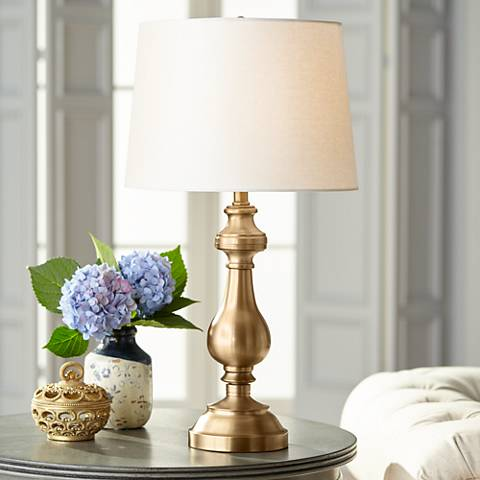 Brass Candlestick Table Lamp R7484 Lamps Plus