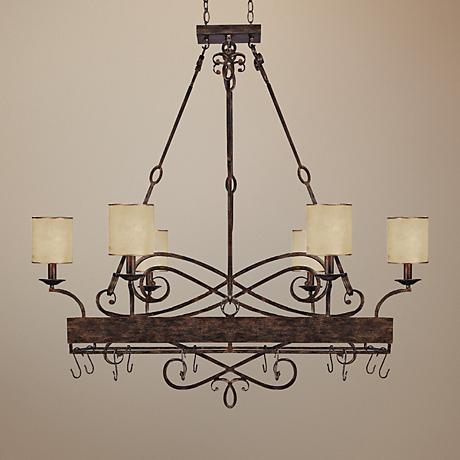 "Reserve Collection 48"" Wide Potrack Chandelier"