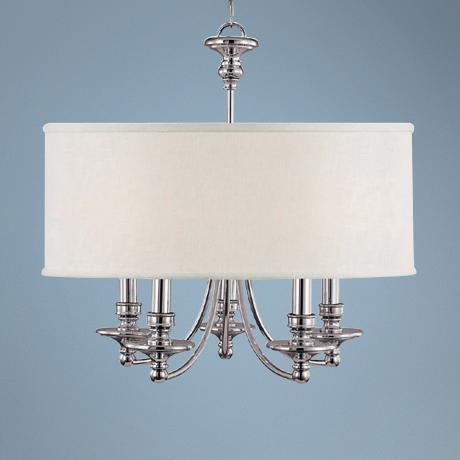 "Midtown Collection Polished Nickel 25"" Wide Chandelier"