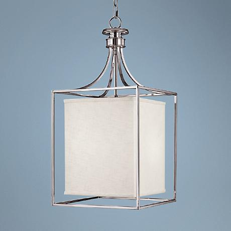 Midtown Collection Polished Nickel Square Foyer Chandelier