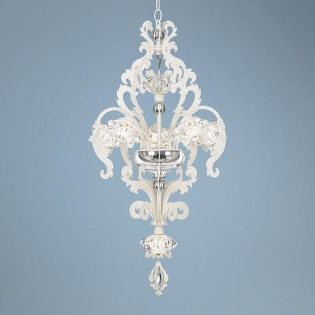 "White Brocade Swarvoski Crystal 17"" Wide Schonbek Chandelier"