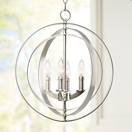 Equinox Collection Silver 16 Wide Pendant Light