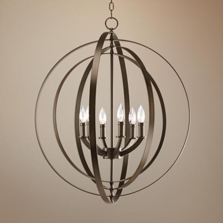 "Equinox Collection Bronze 27 3/4"" Wide Pendant Light"