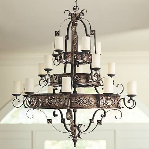 "River Crest Collection 20-Light 61"" Wide Candle Chandelier"