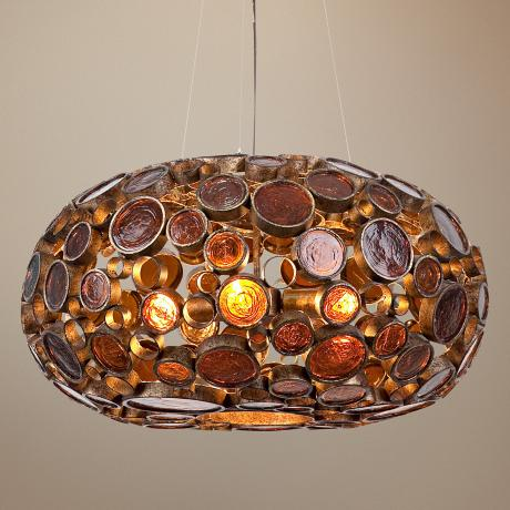 Varaluz Fascination Kolorado Reclaimed Glass Pendant Light