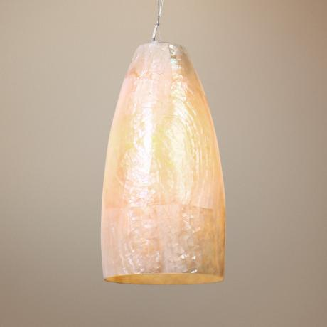 Varaluz Natural Kabebe Shell Big Mini Pendant Light