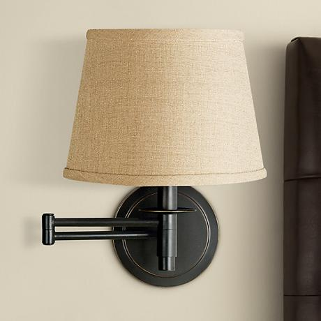 kenroy sheppard oil rubbed bronze plug in swing arm light r8691. Black Bedroom Furniture Sets. Home Design Ideas