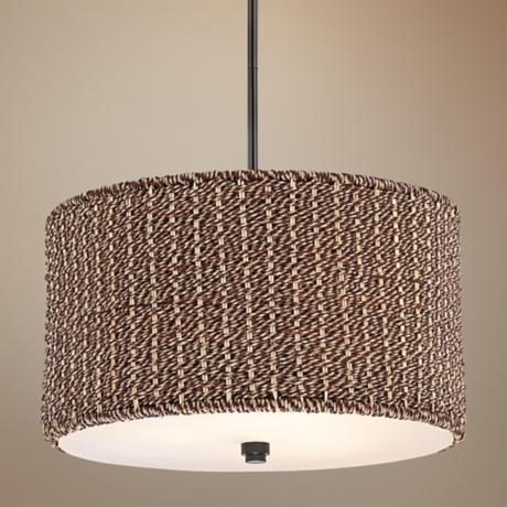"Quoizel Bradbury Mystic Black 22"" Wide Pendant Light"