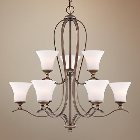 Quoizel Sophia Two Tier 9-Light Entry Chandelier