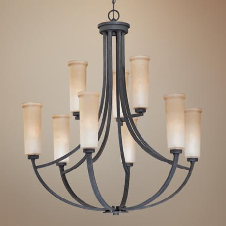 Quoizel Caitlyn Two Tier 9-Light Entry Chandelier
