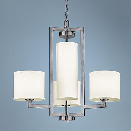 "Hinkley Hampton Collection 24 3/4"" Wide Nickel Chandelier"