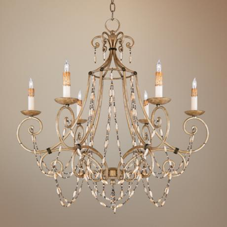 Quoizel Savigne Antique Silver & Ancient Brass Chandelier