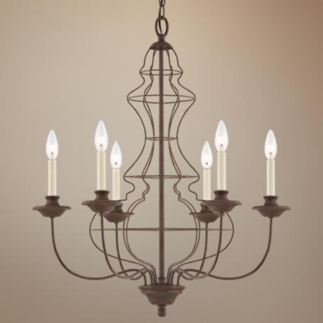 Quoizel Laila Rustic Antique Bronze Chandelier