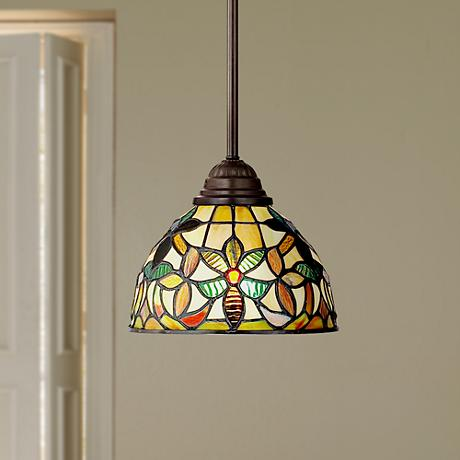 Quoizel Kami Tiffany Style Mini Pendant Light