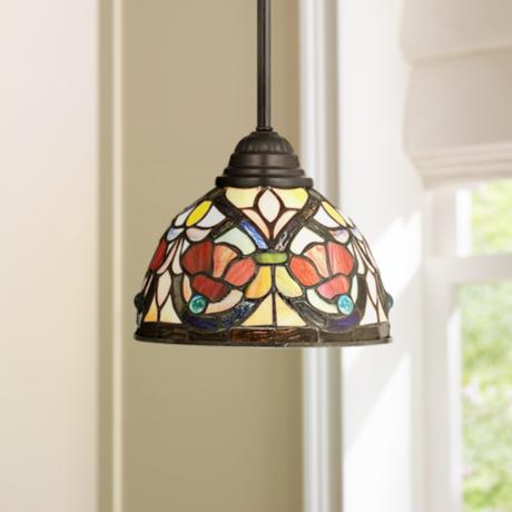 Quoizel Larissa Tiffany Style Mini Pendant Light