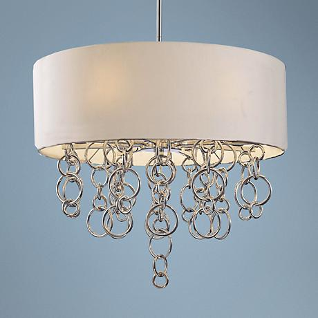 "George Kovacs Ringlets Tan 27 1/2"" Wide Chandelier"