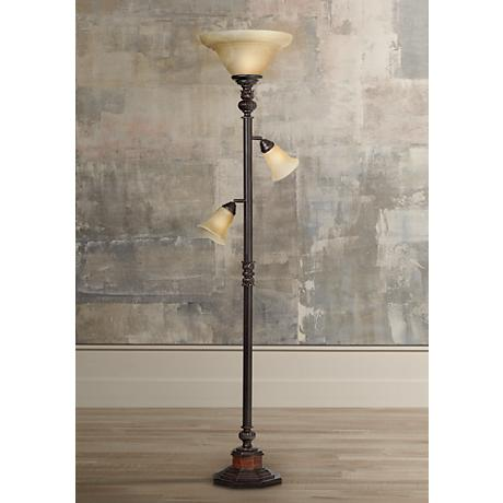 Kathy Ireland Sonnett 3-Light Torchiere Floor Lamp