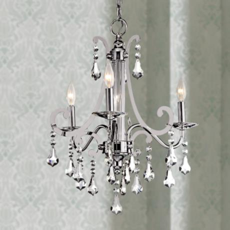 "Kichler Leanora Chrome 21"" Wide 3-Light Chandelier"