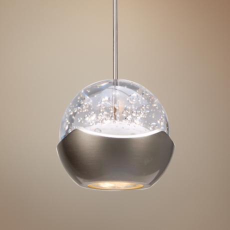 "WAC Genesis 3 3/4"" Wide Nickel LED Mini Pendant"