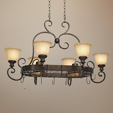"Heartwood Burnt Sienna 42"" Wide Island Chandelier"