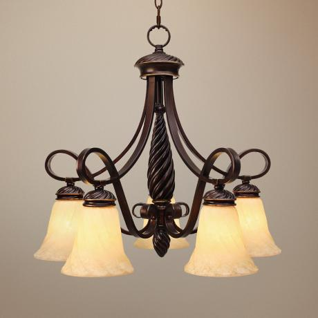 "Torbellino Cordoban Bronze 24 1/4"" Wide Chandelier"