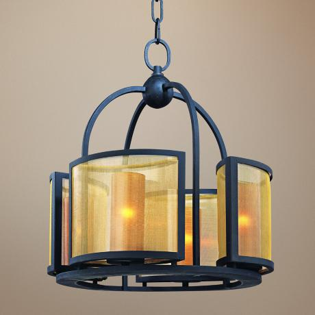 "Chinois Collection 17 1/2"" Wide 4-Light Chandelier"