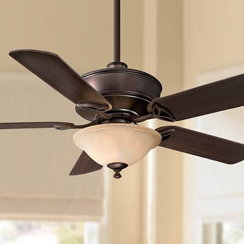 "52"" Minka Bolo Dark Brushed Bronze With Light Ceiling Fan"